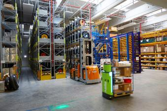 The Digital Warehouse of Lufthansa Technik Logistik Services at Munich Airport