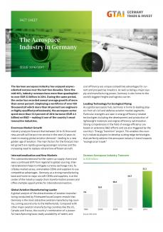 The Aerospace Industry in Germany (Quelle: Germany Trade and Invest)