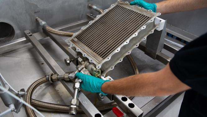 The first automated cleaning system for engine heat exchangers world-wide