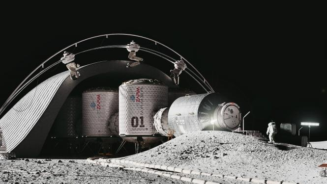 Design of the first operational habitat on the moon