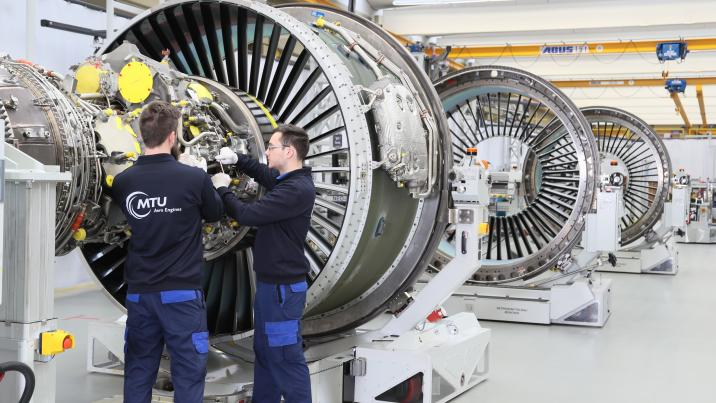 MTU has created the world's first ground-based final assembly line for geared turbofan engines in Munich.