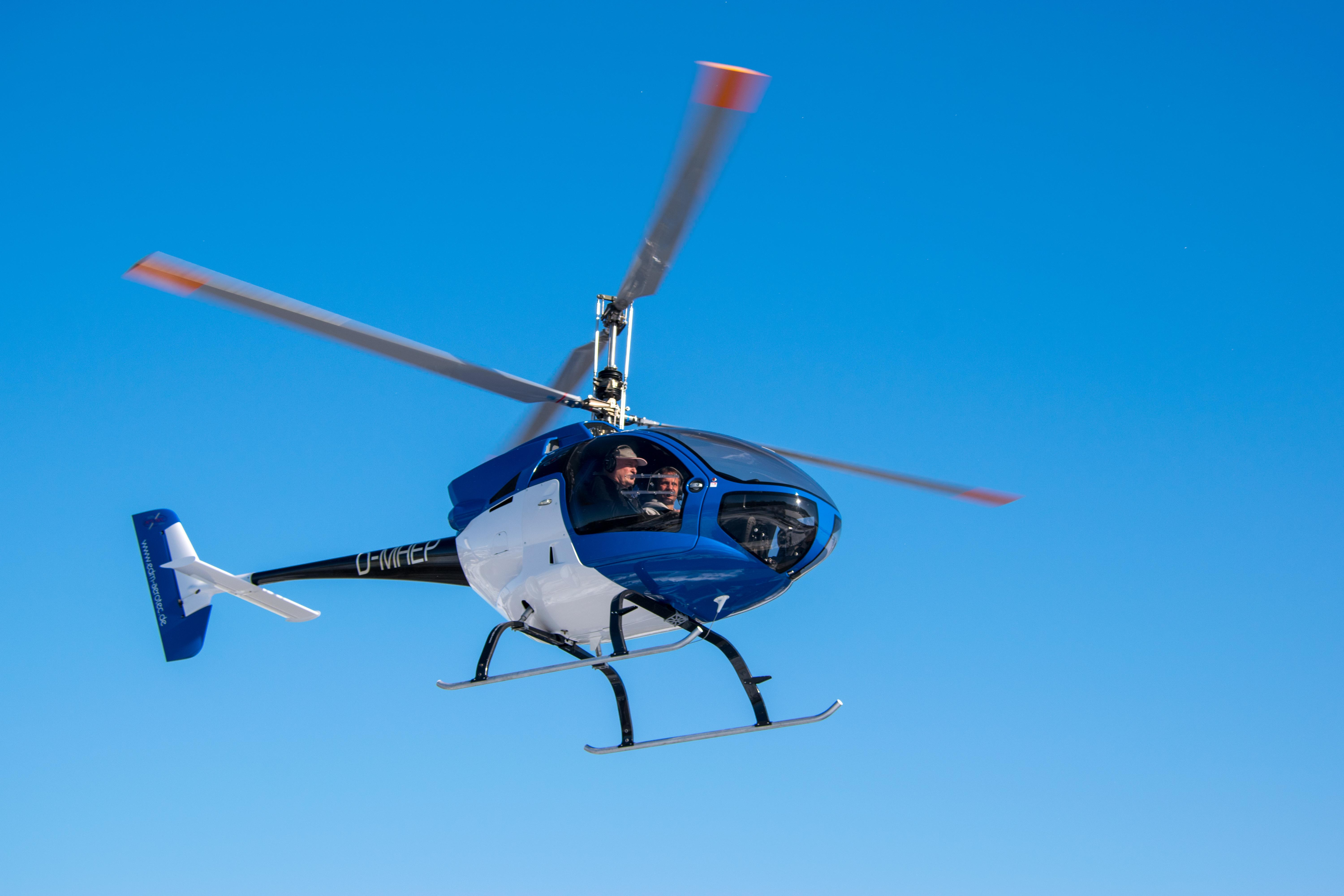edm aerotec GmbH has developed and launched an ultralight helicopter that establishes a completely new helicopter class